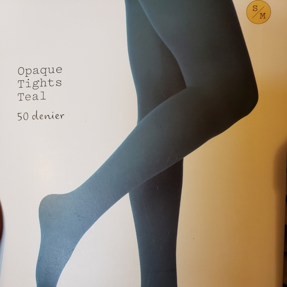 a new day Accessories - NWT Opaque Teal Tights